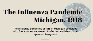 Infographic about Influenza Pandemic in Michigan 1918