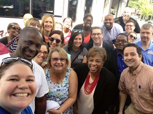 group selfie with brenda lawrence