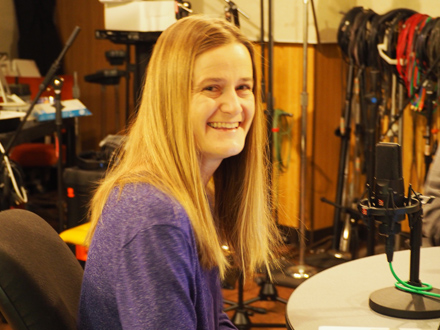 Sarah Reckhow at IPPSR podcast recording